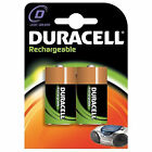 2 DURACELL RECHARGEABLE D BATTERIES BATTERY 2200MaH