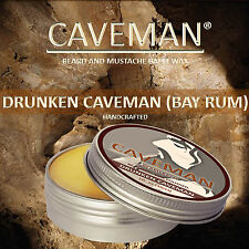 CAVEMAN® Natural Beard & Handlebar Mustache Wax Bay Rum Scent Beard Wax
