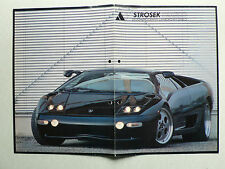 Prospekt Lamborghini Diablo von Strosek, 1994, 4 Seiten
