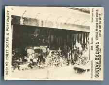 "Japan, Carved wood store Vintage silver print. Photo from the Series ""Gustav Boe"