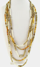 Lucky Brand Gold-Tone Citrine Multi-Layers Beaded Necklace  $79