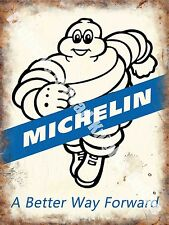 Michelin 171, A Better way Forward, Tyre Man Vintage Car, Medium Metal/Tin Sign