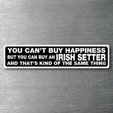 Buy a Irish Setter sticker quality 7 year water & fade proof vinyl pup dog breed