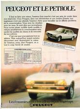 PUBLICITE ADVERTISING 105  1980  PEUGEOT   la 505 TI