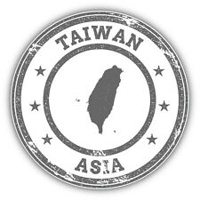 Taiwan Map Asia Grunge Rubber Stamp Car Bumper Sticker Decal 5'' x 5''