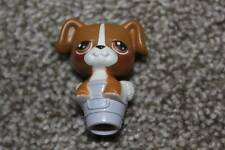 Littlest Pet Shop Boxer Puppy Wash Bucket LPS Dog Toy Hasbro RARE Pencil Topper