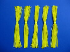 5 Silicone Skirts Yellow 5-940 spinner bait bass lure jig blade fishing