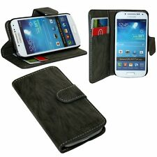 Samsung Galaxy S4 Mini Book Style Fodera Cover Custodia Cellulare Antracite