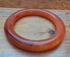 Vintage Orange Grueso Plástico con Retro/principios de plástico?/Lucite/años 30 Deco Estilo