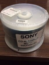 50 New Sony 48x Blank Logo 700MB 80Min CD-R Disc Media