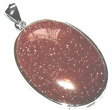 52x32mm Originale Gemstone Goldstone Pendant