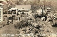 1940s RPPC Rock Garden, Dream Gables Gift Shop, Devil's Lake, Manitou Beach MI