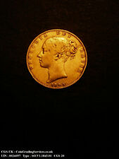 1843 Fine Queen Victoria Gold Shield Sovereign Coin CGS 20
