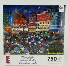 CEACO® 750pc NIGHT LIGHTS • MOULIN ROUGE • GLOW • PUZZLES Jig Saw USA MADE