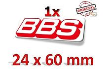 Original BBS Logo 24x60mm Aufkleber Sticker Decals Autocollant -Neu/New-