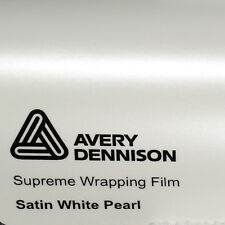 (24,34€/m²) Avery Supreme Wrapping Film Satin Pearl White Auto Folie 152cm