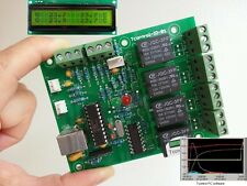 Dual homebrew temperature controller. USB Tcontrol-IO with display