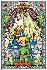 Legend of Zelda Poster - STAINED GLASS - New Zelda gaming poster PP33735