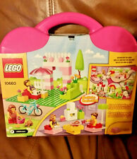 LEGO 10660 Pink House Suitcase 151 Pieces Young Builders Bicycle People Cat