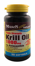 Mason Naturals Krill Oil 1000mg with Astaxanthin 30 sfg - New Item
