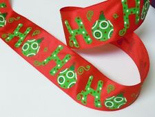 5yds Lime Green Ornaments Red Satin Wired Ribbon Christmas Gifts Party Decor Bow