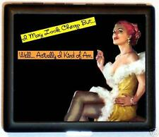 Cheap Pin-Up Cigarette Case Business Card Wallet Retro Humor Pin Up Girl