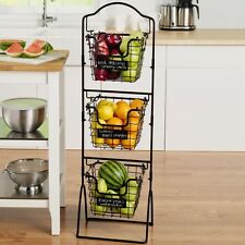 3 Tier Fruit And Vegetable Storage Baskets