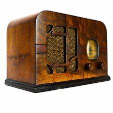 Delco R1125 Super Heterodyne Antique Brown Wood Vintage Tube Radio Receiver