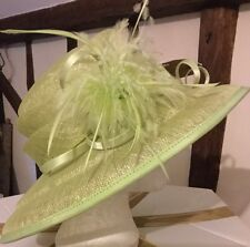 Gorgeous Lime Green Wedding Hat By Jacques Vert BNWT Races