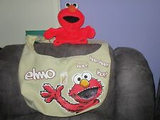 Sesame street Elmo hand puppet plush with a gorgeous handbag/overnight bag