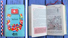 Le Guide à la page Odé, 1956, la Suisse, bon état, 308 pages, nombreux plans,