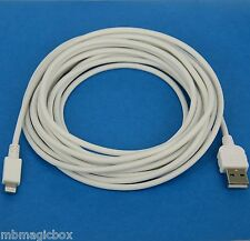 5M 16ft LONG Quick Charging ONLY USB Charger Cable WHITE for iPhone 5s 5c 5