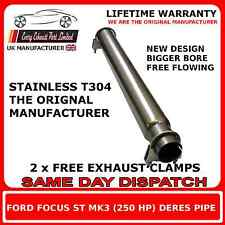 FORD FOCUS ST MK3 FRONT SILENCER REPLACEMENT PIPE DE BOX DECAT STAINLESS STEEL
