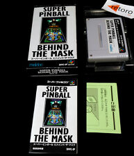 SUPER PINBALL BEHIND THE MASK Super Famicom Nintendo SNES SFC Jap Good Condition