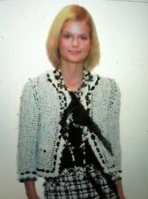 CHANEL 05P MOST WANTED LESAGE TWEED LACE Boucle White Black RIBBON SEQUINS FR44