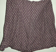 LADIES BEST COLLECTION SIZE 16 VISCOSE RAYON CHOCOLATE BROWN SKIRT