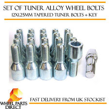 Set of 20 12x1.25mm 12x1.25 Tuner Drive Sparco SD Alloy Wheel Bolts + Nuts Key