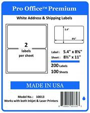 PO13 200 Pro Office Self-Adhesive Premium shipping Label Round Corner USPS UPS