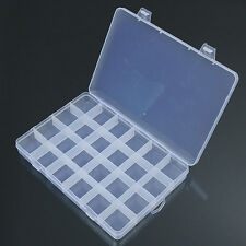 24 Compartments Plastic Box Case Jewelry Storage Container Craft Organizer Fancy