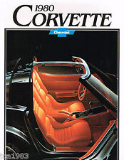 1980 Chevy CORVETTE Dealer Sales Brochure / POSTER