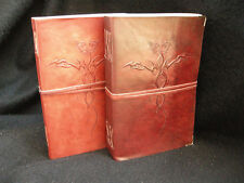 Large Handmade Leather Sketchbook Journal Diary - with DRAGON - Cartridge Paper