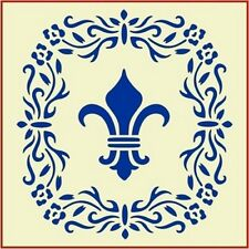 FLORAL FLEUR DE LIS- FRENCH - NEW! -The Artful Stencil