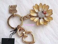 NEW JUICY COUTURE YELLOW DAISY FLOWER WITH LADYBUG KEY RING KEY FOB BAG RETIRED