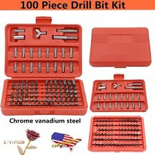 100-pc Accessory Kit Drill Bit Driver Screw Tools Set 31639 Case New OY