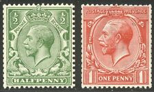 GREAT BRITAIN #177-78 Mint NH - 1913 1/2p - 1p Coils