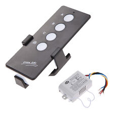 220V 3 Way Port ON/OFF Digital RF Remote Control Switch Wireless For Light Lamp