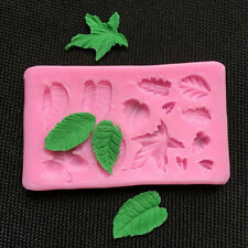3D Leaves Vein Silicone Fondant Mould Cake Decor Baking Icing Sugarcraft Mold