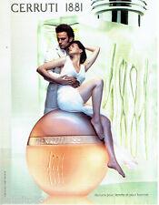 PUBLICITE ADVERTISING 056  2003    Cerruti 1881 parfum homme & femme