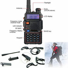 Hot Portable UV-5R Dual-band Handheld Alarm VHF/UHF TwoWay Ham Radio Transceiver