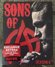 SONS OF ANARCHY SEASON SIX 4 DISC BLU RAY SET FREE SHIPPING REGION FREE